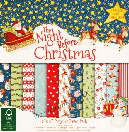 "The Night Before Christmas 6"" x 6"" Designer Paper Pack by Dovecraft"